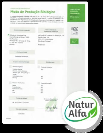 Certificado Naturalfa